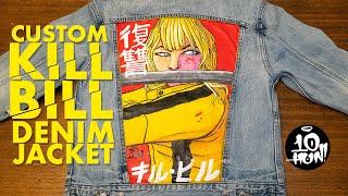 Custom Kill Bill Denim Jacket - Hand Painted using GAC 900