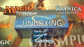Magic The Gathering: Ravnica Allegiance Deck Builder's Toolkit Unboxing