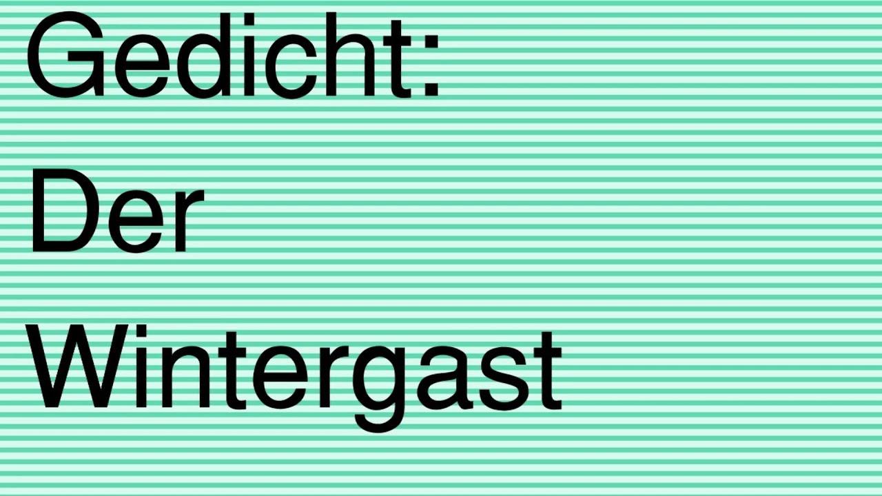 Gedicht Der Wintergast Audio Thema Igel Für Grundschule