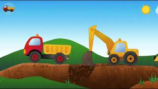 Educational Video Kids Learning About Truck Bulldozer Lifter Construction Vehicle