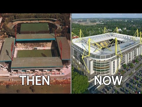 12 Football Stadiums Then & Now | Ft. Westfalenstadion, Camp Nou, Wembley...
