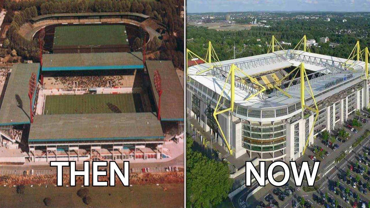 Then Stadiums  Football Westfalenstadion   12 Ft. Now &