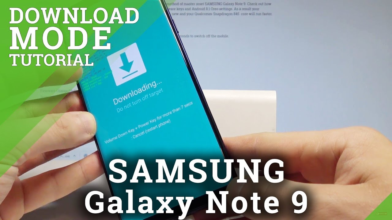Download Mode SAMSUNG Galaxy Note 9 - HardReset info