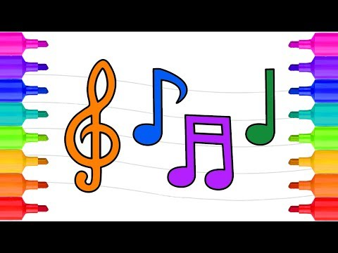 Music Notes Coloring Pages | Coloring Pages for Kids | Learn Colors for Kids | Videos for Kids 2017