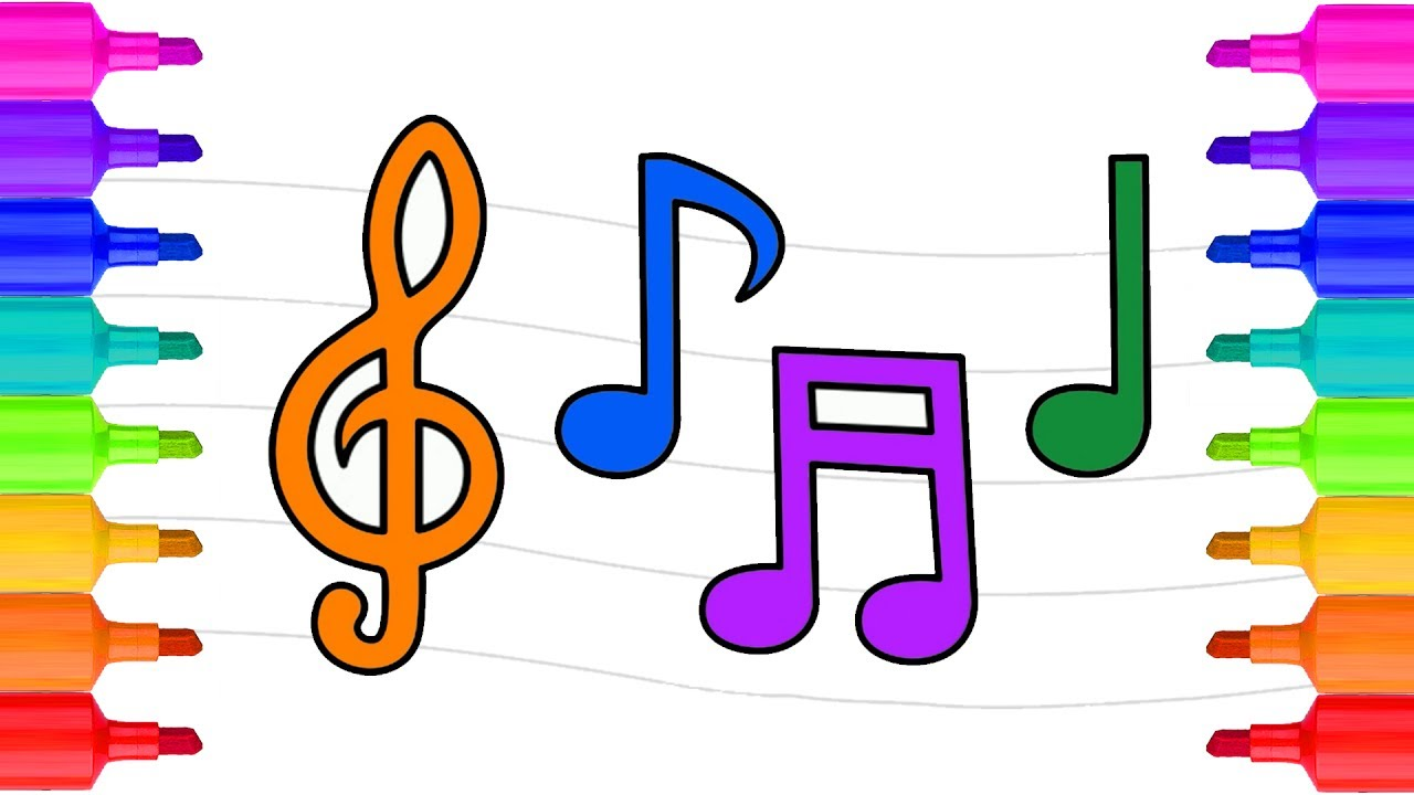 music notes coloring pages coloring pages for kids learn