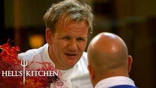 Gordon Ramsay Can't Handle Chef Forgetting The Desserts Menu | Hell's Kitchen