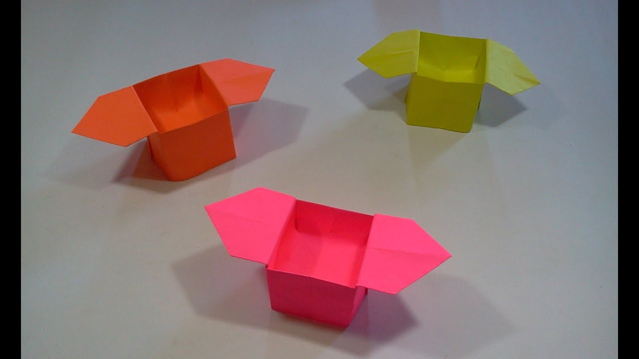 How to make Origami Box - YouTube - photo#34
