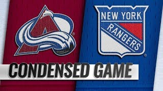 Colorado Avalanche vs New York Rangers – Oct.16, 2018 | Game Highlights | NHL 18/19 | Обзор матча