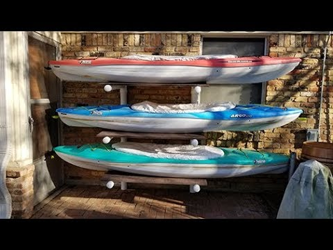 Diy Kayak Rack >> You Can Build The Best Kayak Storage Rack Cheap Easy Youtube