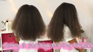 Using Straightening Brush for the First Time  ▸ Natural Hair