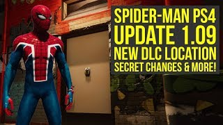 Spider Man PS4 Update 1.09 ALL THE INFO, New DLC Location, News & More (Spiderman PS4 Update 1.09)