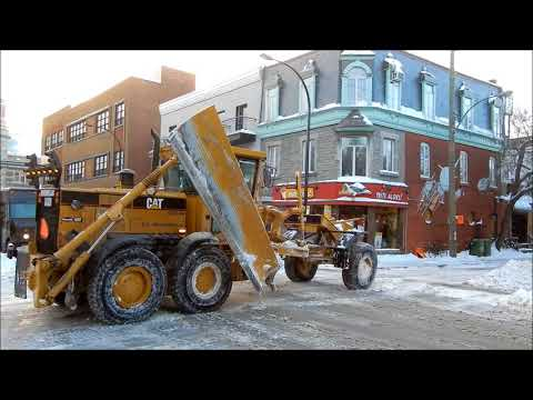 DETAILED SNOW REMOVAL IN MONTREAL ON RIVARD ST. 01-09-18
