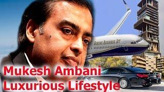 Mukesh ambani luxurious lifestyle , house, privet jet, car,  net worth, family member