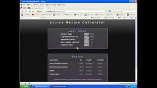 Tutorial On How To Use The Online E-Juice Calculator(, 2013-04-18T02:40:09.000Z)