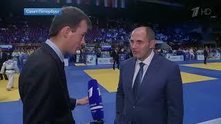 Смотреть видео Президент начал поездку в Санкт Петербург с турнира памяти своего тренера по дзюдо онлайн