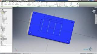 Видеоурок 04. Построение 3D модели пластиковой коробки в AutoCad Invertor
