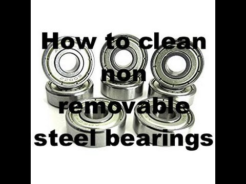 How To Clean Non Removable Steel Bearings Youtube