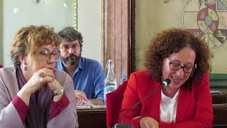 Alicia Morales realiza la intervención de cierre en el último Pleno Ordinario.
