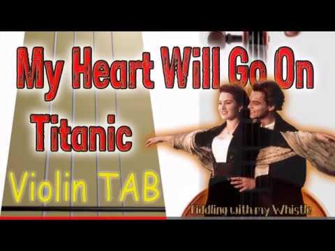 My Heart Will Go On - Titanic - Violin - Play Along Tab Tutorial thumbnail