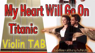 My Heart Will Go On - Titanic - Violin - Play Along Tab Tutorial