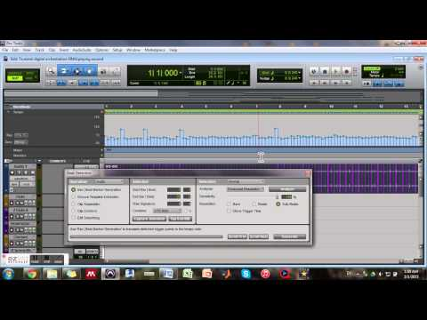 Pro Tools: Tempo map with audio recorded beats + beat detective: Humanizing MIDI performance Part I