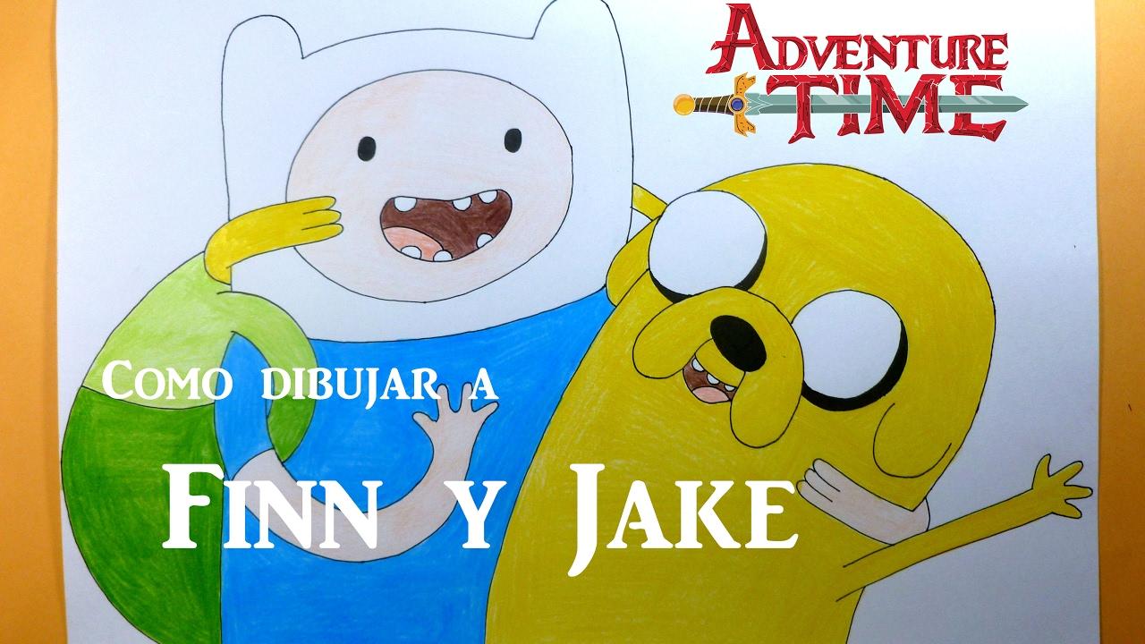 Como Dibujar Pintar A Finn Y Jake Hora De Aventura Adventure