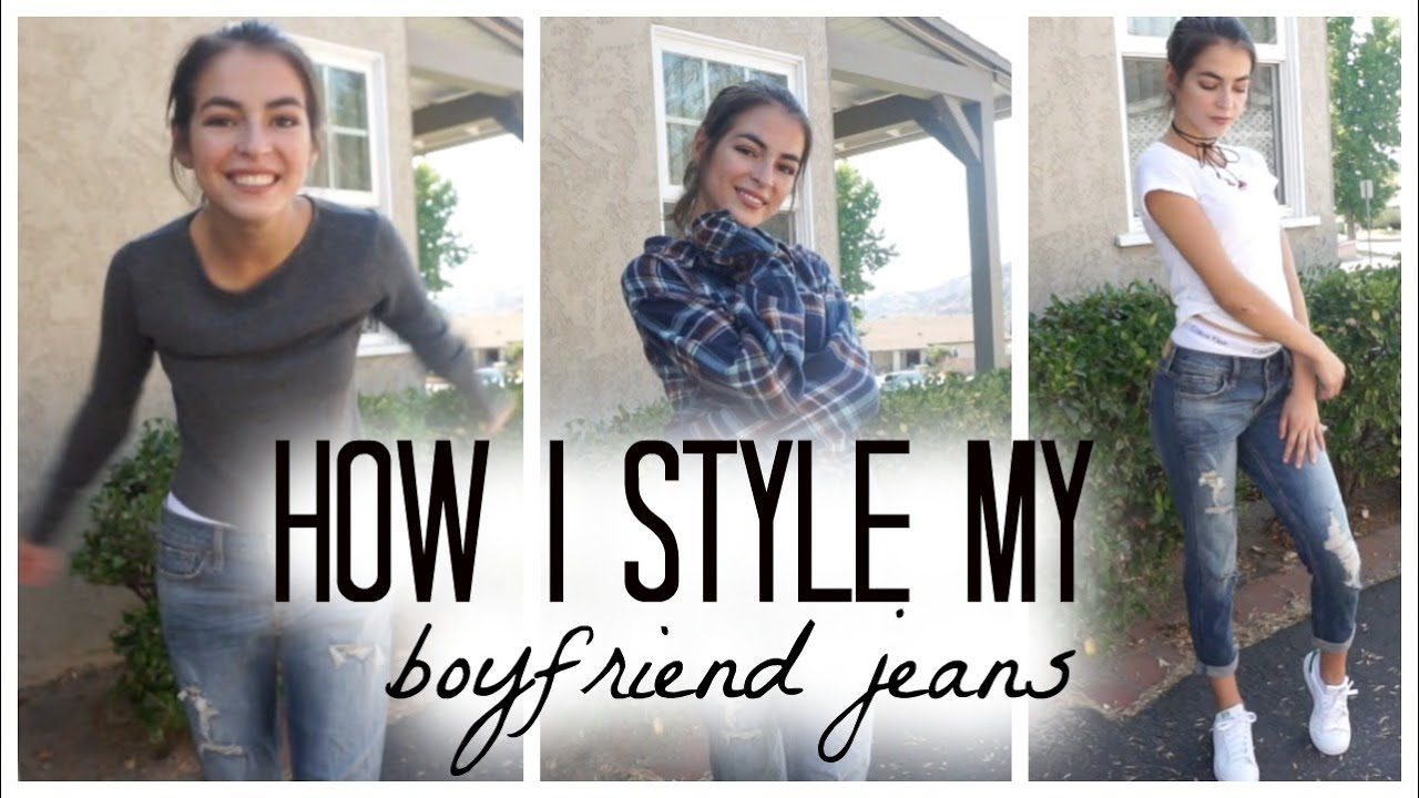 How To Style Boyfriend Jeans! // Madison Haas - YouTube