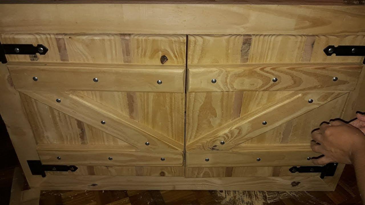 Mueble bajo mesada cocina r stica youtube - Muebles de madera rusticos ...