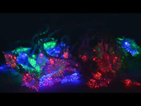 Гирлянда электрическая Занавес Звёзды для помещений 52 LED цветное свечение