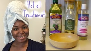 Hot oil Treatment| Relaxed Hair