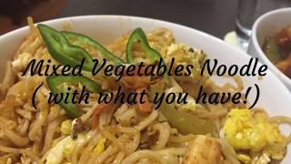 Mixed vegetables noodles | Sindhu's Kitchen Recipes | Restaurant Style | Vegetable Noodles