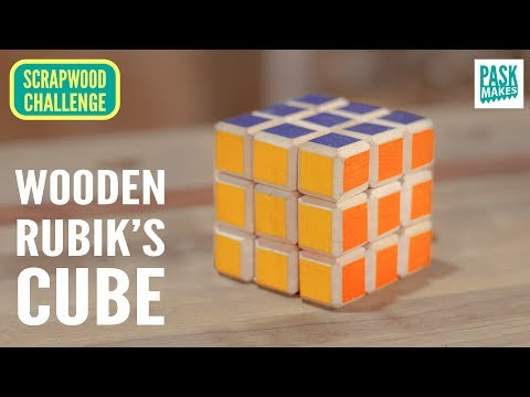 Homemade Rubik's cube (Experiment) - Scrapwood Challenge Ep 19