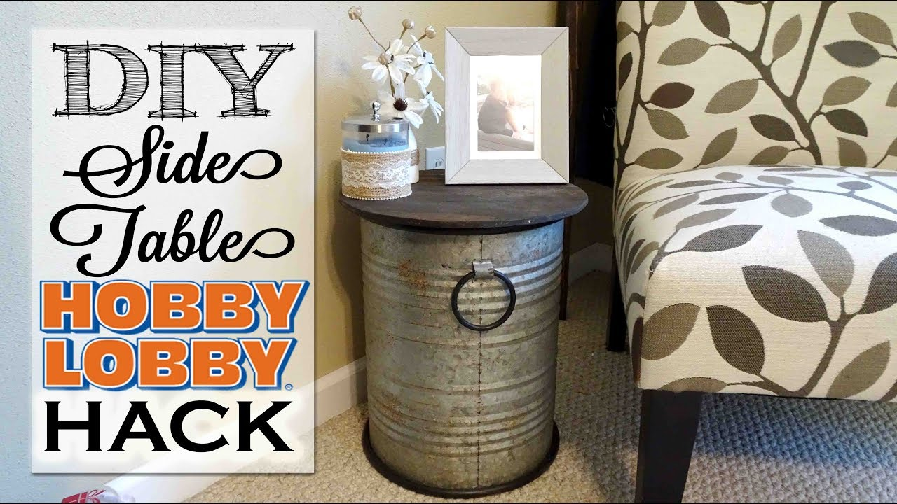 DIY Side Table | Hobby Lobby Hack