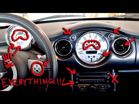 Mini Cooper Dashboard Lights, Buttons & Switches Explained R52 2007 Model