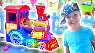What a magical train Lev found on the playground?