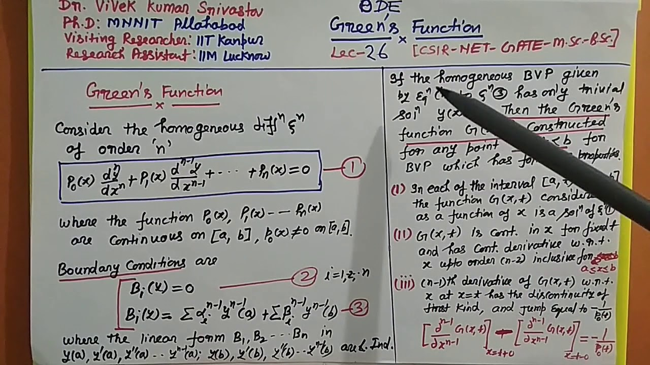 Csir Net Mathematics Handwritten Notes