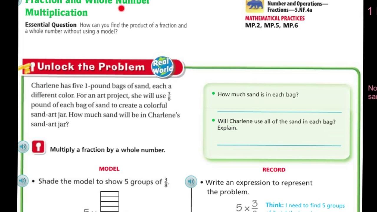 Go Math Lesson 7 3 5th Grade Answers