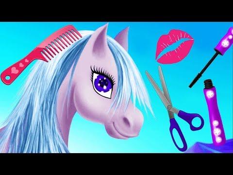 Fun Horse & Princess Hair Style Salon Makeup Care Games - Magic Princess Pony Makeover Kids Games thumbnail
