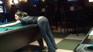Repeat youtube video Drunk Hot Chicks Playing Pool & Dancing