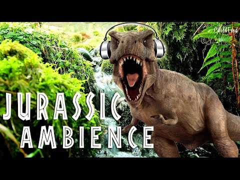Jurassic Jungle Stream Ambience - Soothing Dinosaur Sounds