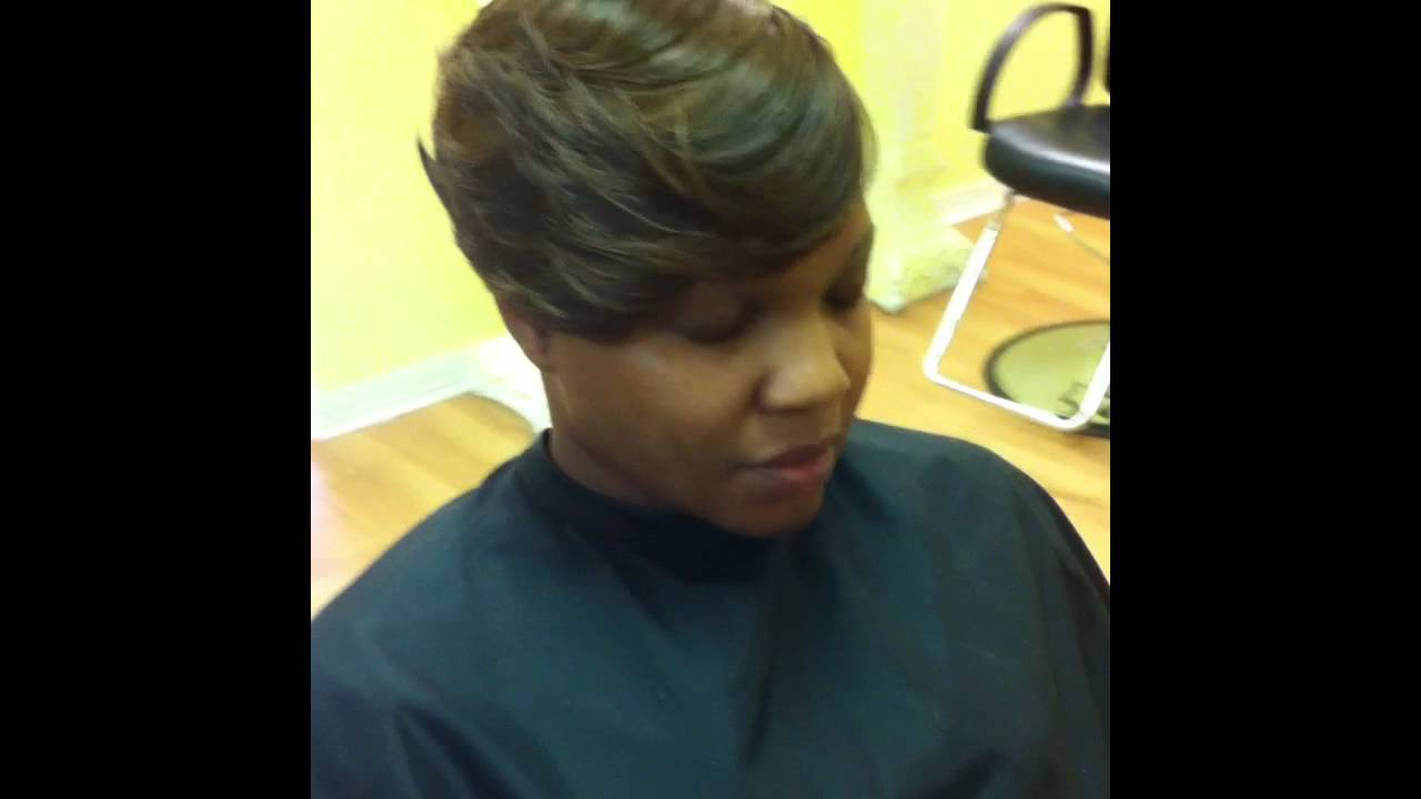 Short Cut Quick Weave Haircut Stylist Marvin Hayes Youtube