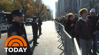 Heightened Security Along New York City's Thanksgiving Day Parade Route TODAY