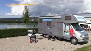 Rhein-Camping Waldshut in Waldshut-Tiengen, Baden-Württemberg September 2017
