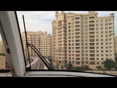 UAE – Dubai tram to Atlantis Hotel at the Palm apartments (Nov 2012)