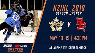 NZIHL 2019 | Season Opener: West Auckland Admirals v Canterbury Red Devils - May 19