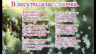 Песня В ЛЕСУ РОДИЛАСЬ ЕЛОЧКА и текст