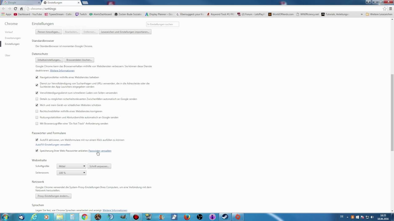 Passwörter Löschen Chrome