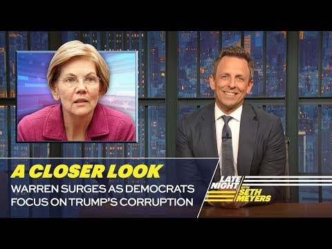 Warren Surges as Democrats Focus on Trumps Corruption!