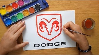 How to draw a Dodge logo