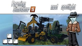 Farming Simulator 15 Mod Spotlight - Forestry Pack and Skidder
